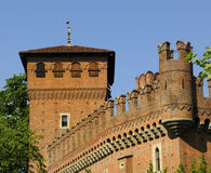 Castle in Turin. Red brick castle in Turin Stock Photo