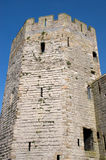Castle Turret. A medieval castle turret, part of the defense system for a large castle in Wales Stock Photo