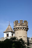 Castle turret. And crenellation against blue sky Royalty Free Stock Photo