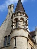 Castle Turret. Corner of a building taken in Oxford Stock Images