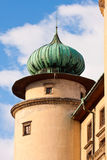 Castle turret. Nowy Wisnicz, Poland royalty free stock photos