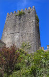 Castle Turret Tower Walls Obidos Portugal Stock Image