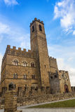 Castle in Tuscany. The castle, built in the medieval period, is located in the Italian town of Poppi (Tuscany) and is among the 10 most beautiful castles in Stock Photography