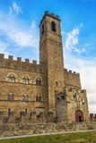 Castle in Tuscany. The castle, built in the medieval period, is located in the Italian town of Poppi (Tuscany) and is among the 10 most beautiful castles in Royalty Free Stock Images