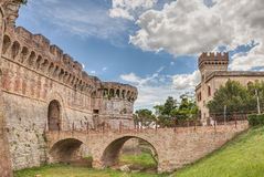 Castle in Tuscany Stock Photo