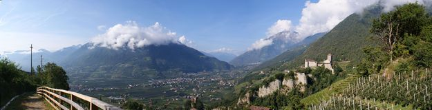 Castle Tyrol and the \Vinschgau\ Royalty Free Stock Photo