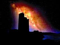 Castle under the starry sky