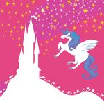 Castle and Unicorn Royalty Free Stock Image