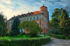 Castle in Uniejow, Poland Stock Photos