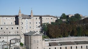 Castle of urbino Stock Image