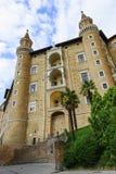 Castle in Urbino Italy Stock Image