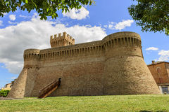 Castle Urbisaglia. Castle in town Urbisaglia, Marche, Italy in summer royalty free stock photography
