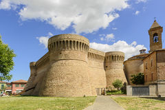 Castle Urbisaglia. Castle in town Urbisaglia, Marche, Italy in summer royalty free stock photos