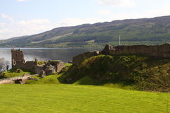 Castle Urquhart. Urquhart Castle located on the shore of Loch Ness in Scotland Royalty Free Stock Photo