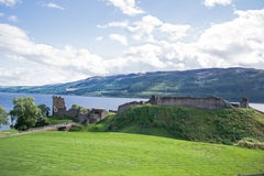 Castle Urquhart. Urquhart Castle located on the shore of Loch Ness in Scotland Royalty Free Stock Image