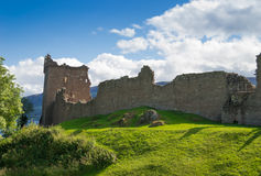 Castle Urquhart in Loch Ness. Urquhart Castle located on the shore of Loch Ness in Scotland Stock Image