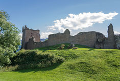 Castle Urquhart in Loch Ness. Urquhart Castle located on the shore of Loch Ness in Scotland Stock Photos