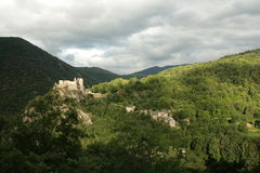 Castle of Usson stock images