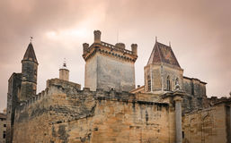 Castle of uzes. In the Gard, France Stock Photography