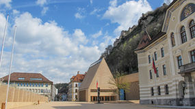 Castle Vaduz του Λιχτενστάιν Στοκ φωτογραφία με δικαίωμα ελεύθερης χρήσης
