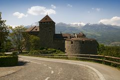 Castle in Vaduz Royalty Free Stock Photo