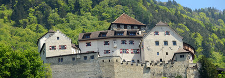 Castle in Vaduz Royalty Free Stock Photos