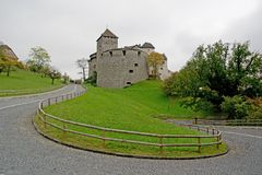 Castle in Vaduz, Lichtenstein Royalty Free Stock Photos