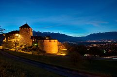 Castle of Vaduz in Liechtenstein Stock Image