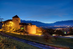 Castle of Vaduz in Liechtenstein Stock Photos