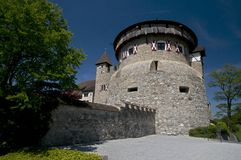 Castle in Vaduz - private parking Royalty Free Stock Photos