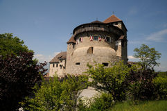 Castle in Vaduz - watchtower Stock Photo