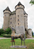 Castle of Val in Lanobre, Limousin, France Stock Images
