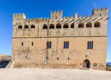 The castle in Valderrobres, Spain royalty free stock image