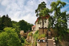 Castle Valdstein in Bohemian Paradise region Stock Photos