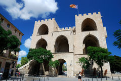 Castle of Valencia Stock Photography