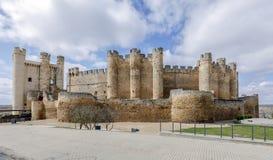 Castle at Valencia de Don Juan, Castilla y Leon. Spain royalty free stock photo