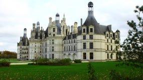 Castle Chambor - the unique architecture od French renaissance royalty free stock image