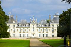 Castle of a valley of the river Loire. France. Cha Stock Photo