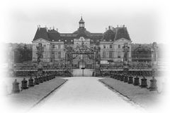 Castle of Vaux le Vicomte Stock Images