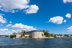 The castle Vaxholm Stock Images