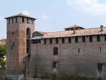 Castle Vecchio or old castle in Verona in Italy Royalty Free Stock Photos
