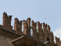Castle Vecchio or old castle in Verona in Italy Royalty Free Stock Images