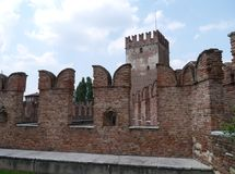 Castle Vecchio and the Ponte Scalerio in Verona Stock Photos