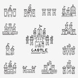 Castle Vector icon Royalty Free Stock Photo