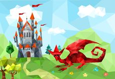 Castle. Vector illustration with a castle Royalty Free Stock Image