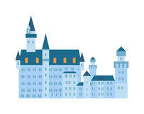 Castle  vector illustration. Royalty Free Stock Photography