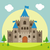 Castle vector illustration Royalty Free Stock Image