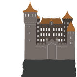 Castle, vector illustration Royalty Free Stock Image