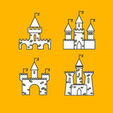 Castle vector set. Castle tower vector logo. Castle turret with Royalty Free Stock Images