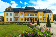 Castle Veitshöchheim, historic palace with Rococo Garden in Bavaria, Germany Royalty Free Stock Photos